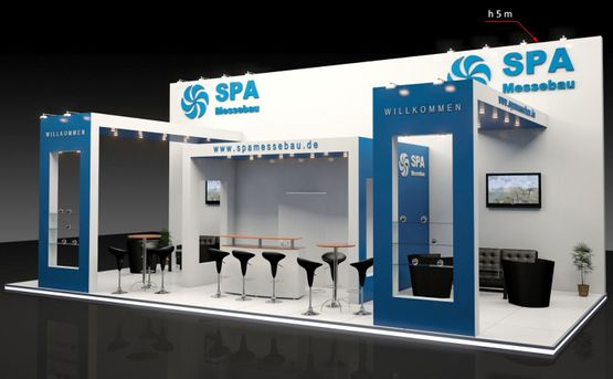 Messestand Messebau SPA Frechen 3D Visualisierung